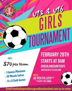 Redlands United  Female Tournament
